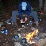Dave cooks up some Comb tooth mushroom...Yum!