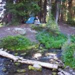 Camp at Snowgrass creek
