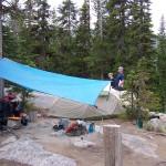 Camp at Colchuck lake