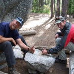 Dave and Ed at the granite table
