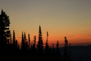 The sky was a brilliant color our last morning, creating fantastic sunrises on Mt. Rainier.