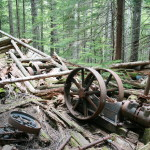 Abandoned mining equipment, along the Skagit Queen Creek.