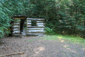 As you can see, probably hasn't been manned for quite some time, an old cabin with a lot of history