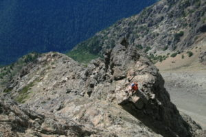 The pictures tell the tale of steep open rock here...