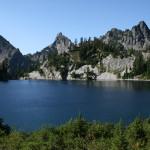 Gem Lake, with Kaleetan Peak in the middle distance.