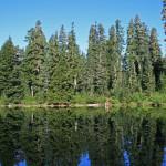 Mirror finish on little Virgin Lake