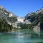 Blanca Lake, with Columbia Peak and it's glacier.