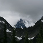 Mt. Shuksan barely visible through the clouds...
