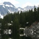 Another view of La Bohn Peak and Jade Lake