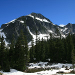 La Bohn Peak, with the gap that we would climb up on the left