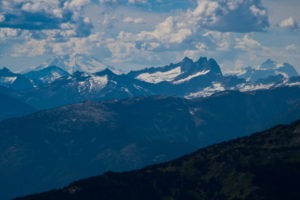 Mt. Baker with several different peaks in the North Cascades