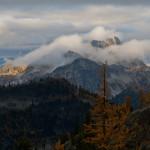 Storm clouds receding over Hock Mt.