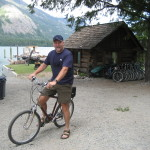 Trading packs for bikes, for our ride to Rainbow Falls, and Stehekin Pastry shop.