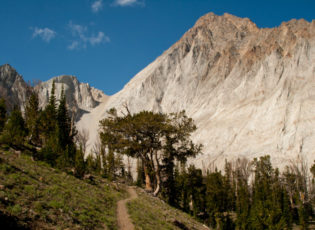 The trail seems to lead right to the base of Castle Peak